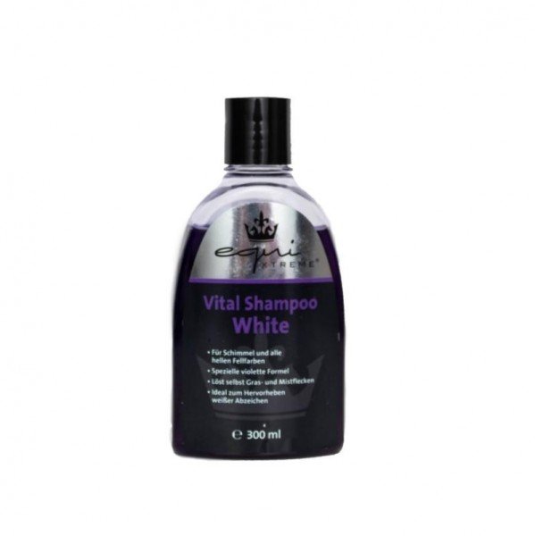 equiXTREME Vital Shampoo White - for grey and light coat colours