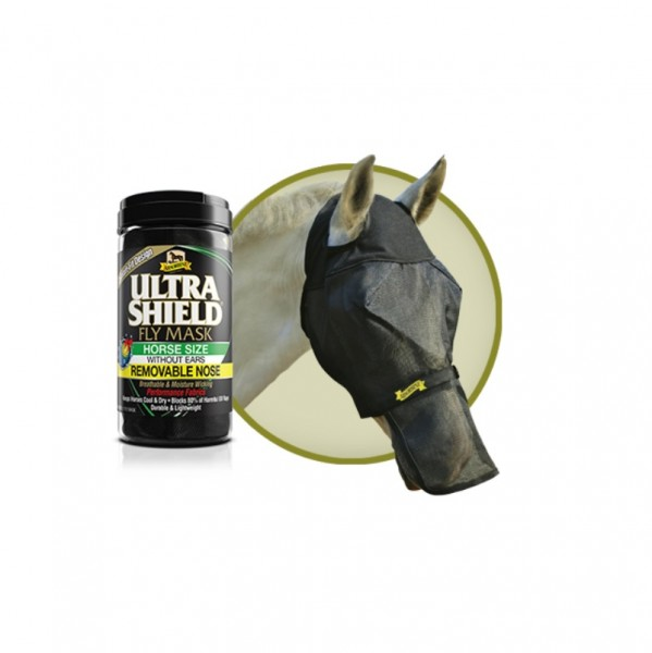 Absorbine Ultra Shield Fly Mask with removable Nose Fly Mask with removable nose guard