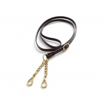 Premier Equine Leder-Führstrick Leather Lead Rein with Chain Coupling