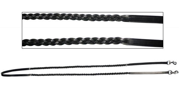 bb Iceland leather reins braided